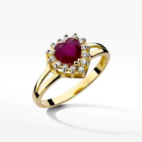 Pierścionek zaręczynowy z rubinem