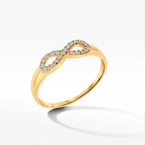 Złoty pierścionek nieskończoność