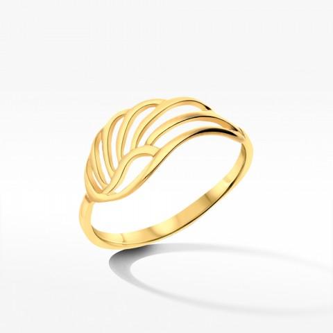 Złoty pierścionek skrzydło