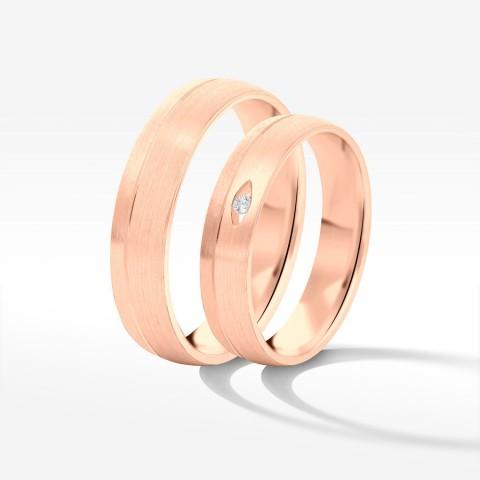 Obrączki ślubne z różowego złota 4.5mm półokrągłe