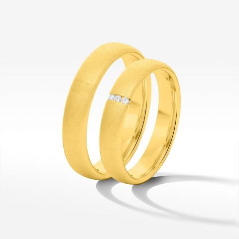 Obrączki ślubne z żółtego złota 4mm półokrągłe