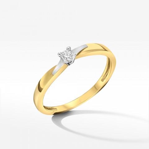 Złoty pierścionek zaręczynowy z cyrkonią 13