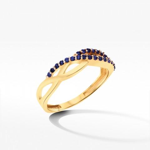 Złoty pierścionek z cyrkoniami rozm.12