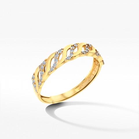 Złoty pierścionek rozm.12