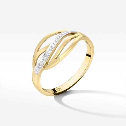 Złoty pierścionek rozm.17
