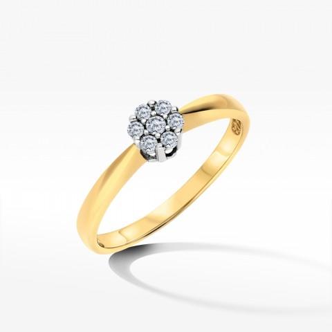 Złoty pierścionek z cyrkoniami rozm.11