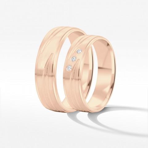 Obrączki ślubne z różowego złota 5.5mm półokrągłe