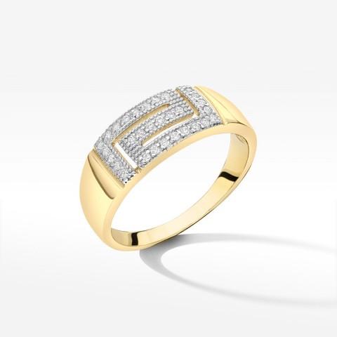 Złoty pierścionek rozm. 21