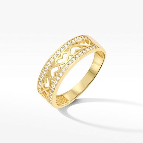 Złoty pierścionek rozm. 18