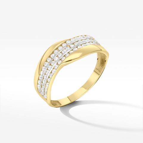 Złoty pierścionek rozm.16
