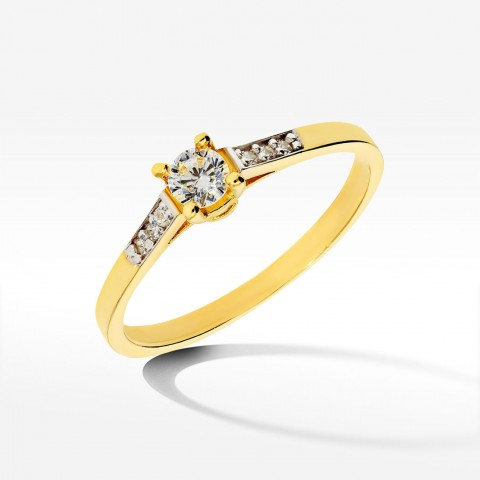 Złoty pierścionek rozm.14
