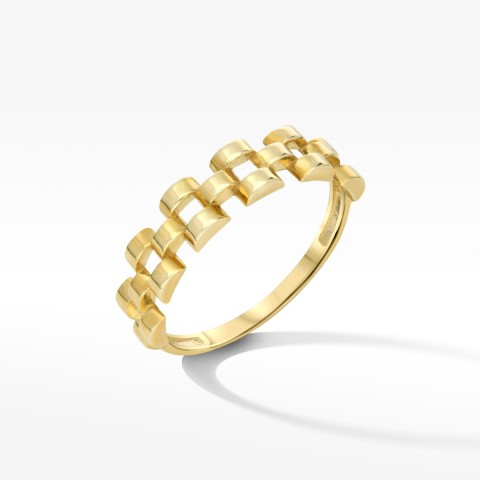 Abstrakcyjny pierścionek ze złota