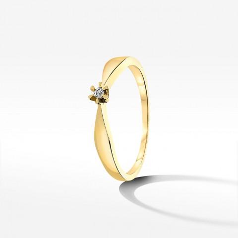 Pierścionek ze złota z cyrkonią