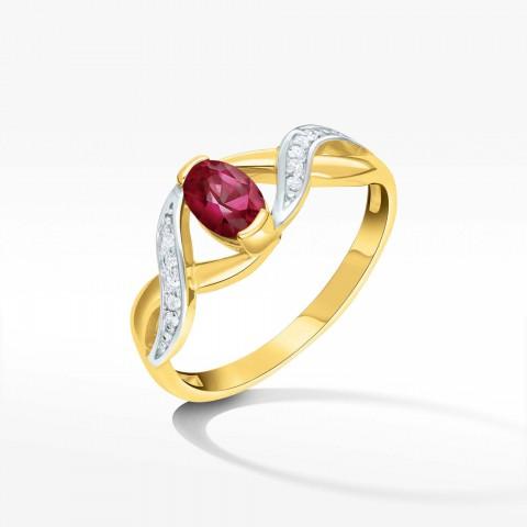 Pierścionek ze złota z rubinem