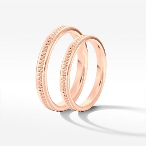 Obrączki ślubne z różowego złota 2.5mm płaskie
