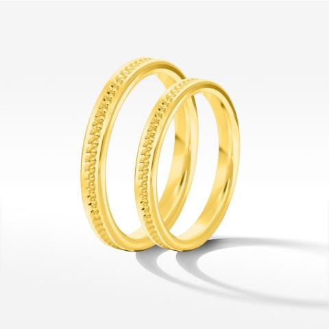 Obrączki ślubne z żółtego złota 2.5mm płaskie