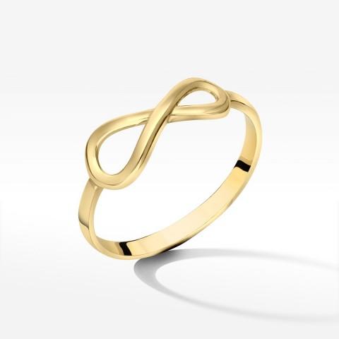 Złoty pierścionek symbol nieskończoności