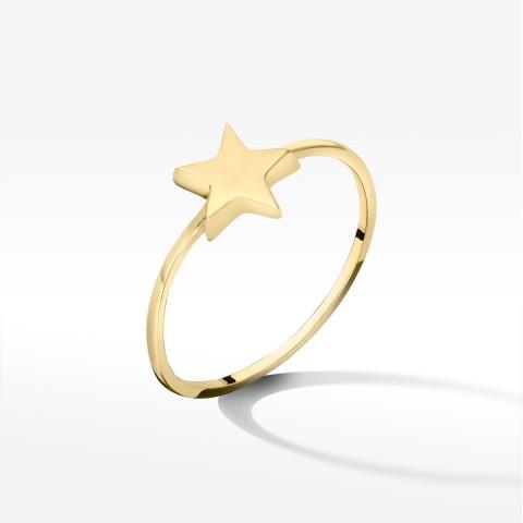Złoty pierścionek z gwiazdką