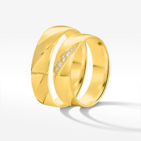 Obrączki ślubne z żółtego złota 5.5mm płaskie
