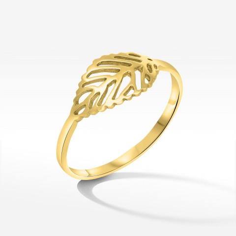 Pierścionek ze złota z listkiem