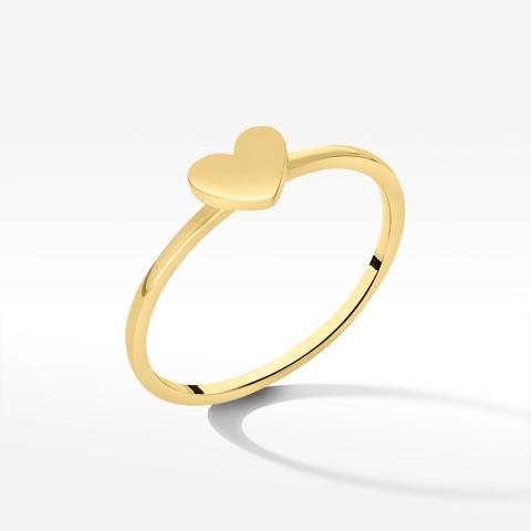 Pierścionek ze złota z sercem