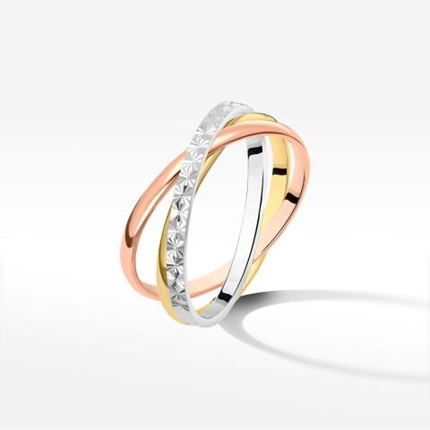 Trzyczęściowy pierścionek ze złota
