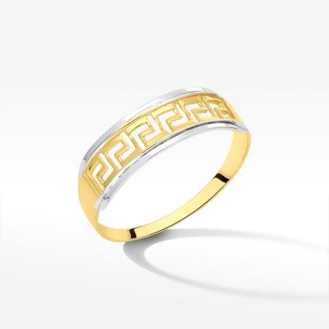 Pierścionek ze złota z greckim złotem