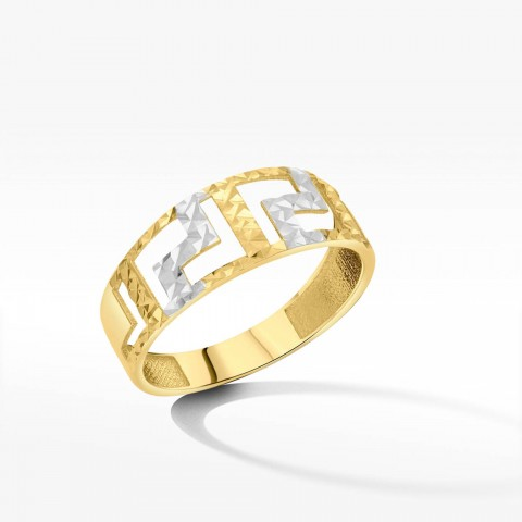 Pierścionek ze złota z greckim wzorem