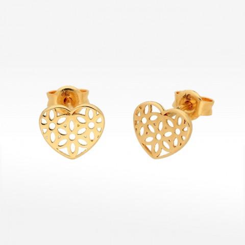 Kolczyki ze złota ażurowe serca