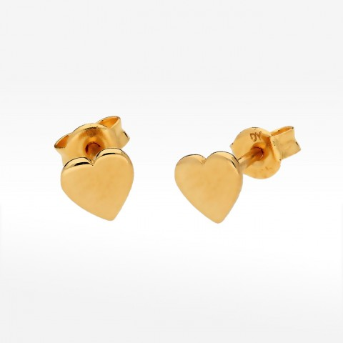 Kolczyki ze złota serca
