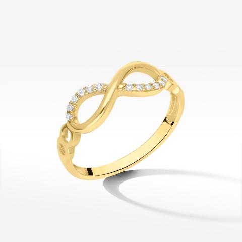 Pierścionek ze złota nieskończoność