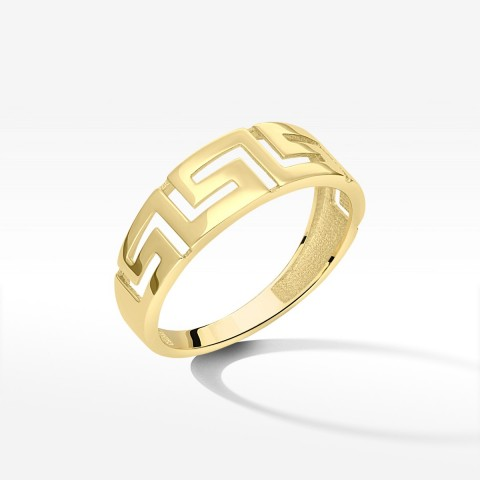 Pierścionek ze złota grecki wzór