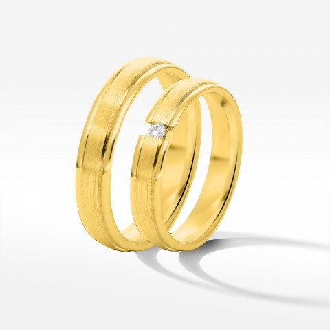 Obrączki ślubne z żółtego złota 4 8mm płaskie