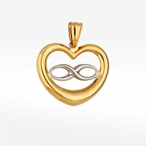 Zawieszka ze złota nieskończoność i serce