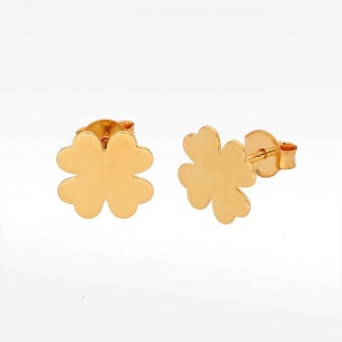 Kolczyki ze złota koniczyna