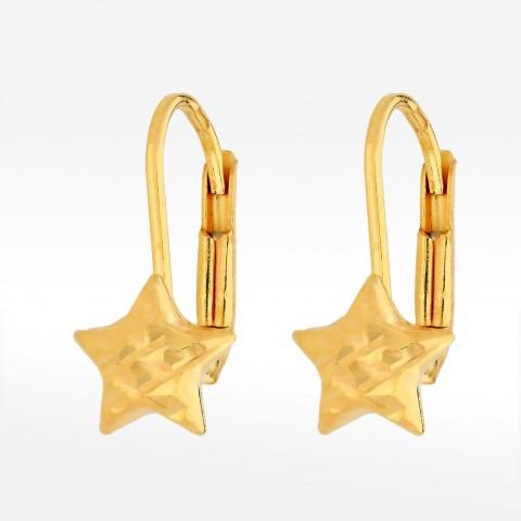 Kolczyki ze złota gwiazdka