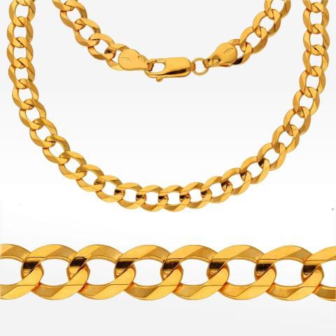 Łańcuszek ze złota 50cm pancerka pełna