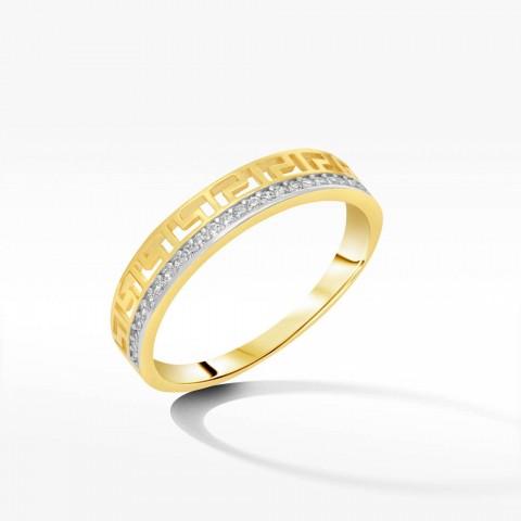 Pierścionek ze złota wzór grecki