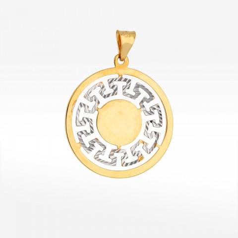 Zawieszka ze złota wzór grecki