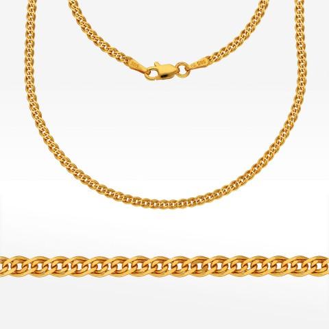 Łańcuszek ze złota 55cm mona lisa pełna