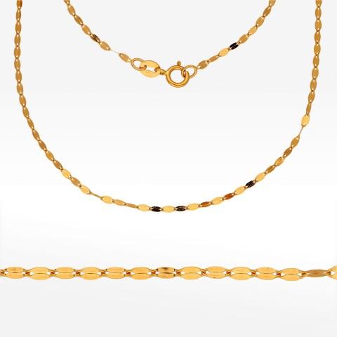 Łańcuszek ze złota 42cm mokka pełna
