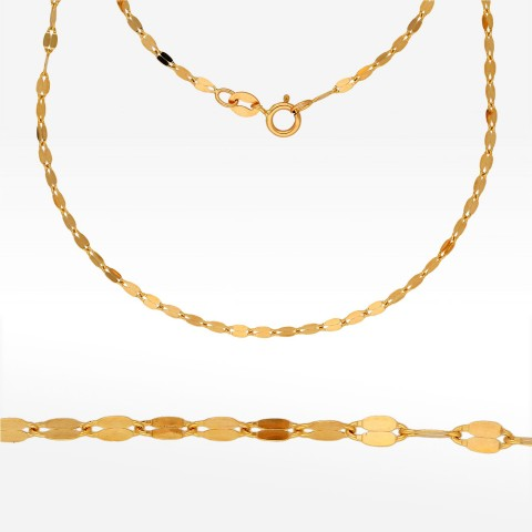 Łańcuszek ze złota 50cm mokka pełna