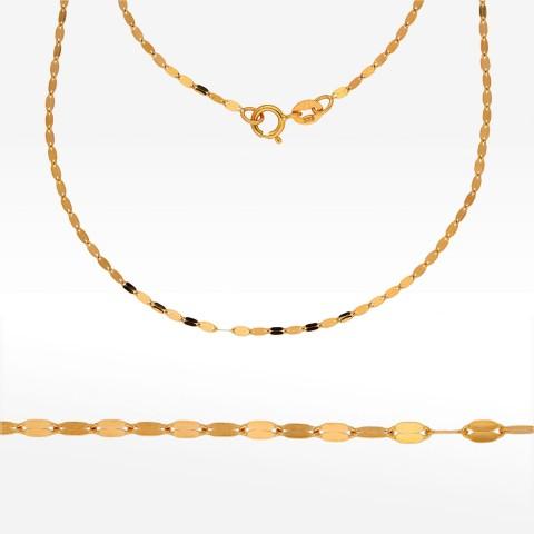 Łańcuszek ze złota 45cm mokka pełna