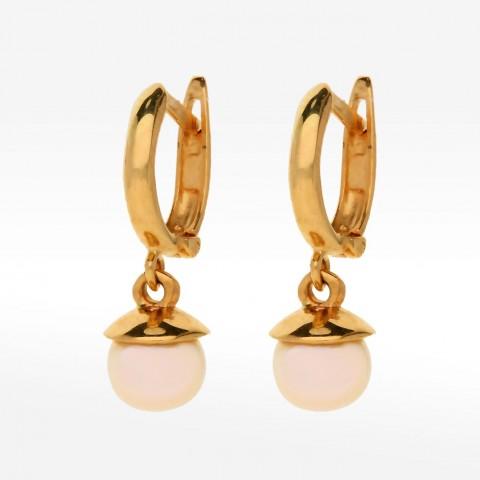 Kolczyki ze złota z perłą