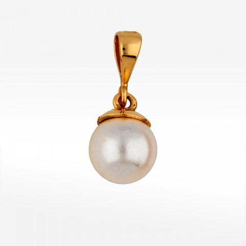 Zawieszka ze złota z perłą