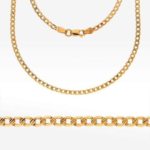 Łańcuszek ze złota 55cm pancerka diamentowana pełna