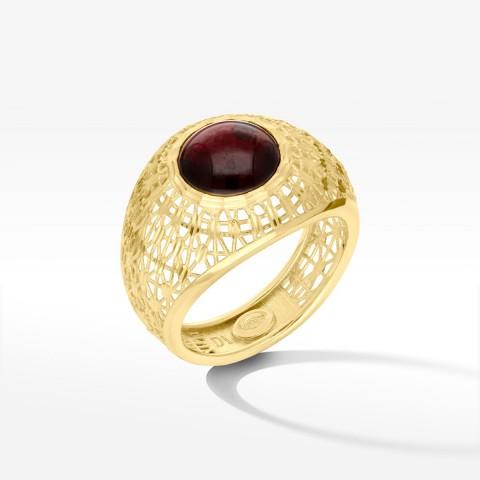 Dall'Acqua pierścionek ze złota z cyrkonią