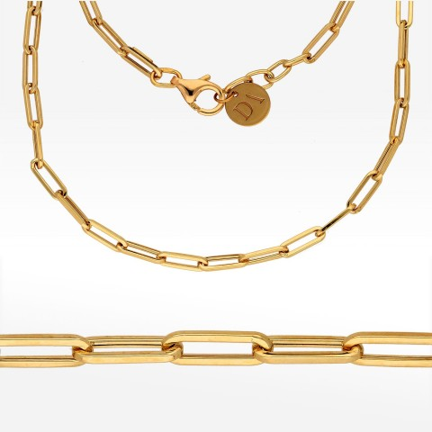 Dall'Acqua łańcuszek ze złota 45-47cm długie ogniwa