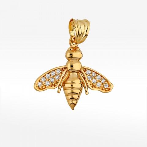 Zawieszka ze złota pszczoła z cyrkoniami