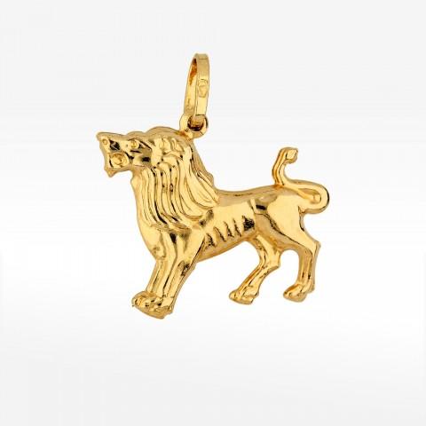 Zawieszka ze złota znak zodiaku lew